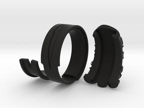 Vambrace Ring 7.5 in Black Natural Versatile Plastic