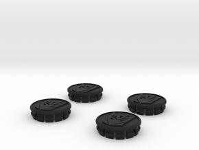 4 X Toyota Prius G3 Wheel Center Cap - Decepticon in Black Strong & Flexible