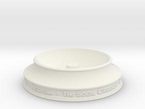 Reddcoin Spherical Logo - Stand in White Strong & Flexible