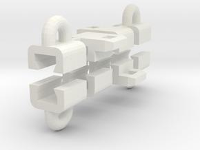 Rail Mtd Loops Side in White Natural Versatile Plastic