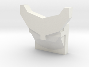 Back Fin/Spoiler in White Natural Versatile Plastic