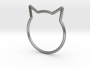 "Cat Ear Ring ""Büsi"" in Natural Silver"