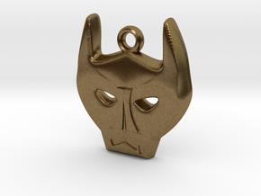 Bat Mask Charm in Natural Bronze