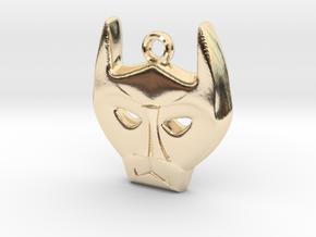 Bat Mask Charm in 14K Yellow Gold