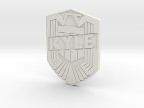 Kyle Custom in White Natural Versatile Plastic