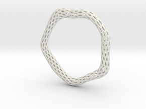 Irregular Bracelet (Size L) in White Natural Versatile Plastic