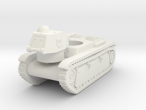 Vehicle- Renault R40 Tank (1/87th) in White Natural Versatile Plastic