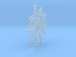 Spider web Earring No Spider in Smooth Fine Detail Plastic