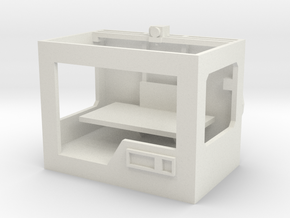 1/10 Scale 3D Printer in White Natural Versatile Plastic