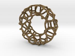 Organic Circle Pendant 2 in Raw Bronze