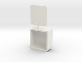 Step Ladder in White Natural Versatile Plastic