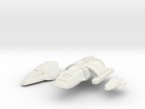 Delta Flyer/Voyager Shuttle in White Natural Versatile Plastic