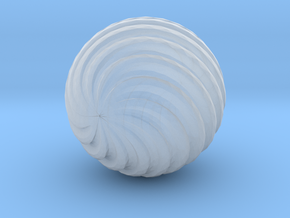 Wave Ball in Smooth Fine Detail Plastic