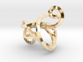 Twisted Cleff Pendant in 14K Yellow Gold