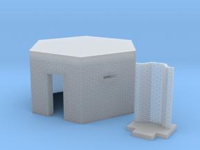 British WW2 Pillbox Type 22 1-148 Scale Brick in Smooth Fine Detail Plastic