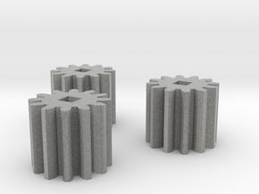 3x 12-Tooth High Strength Pinion in Metallic Plastic