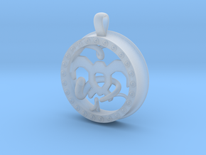 Wind Tamer 1 Inch Pendant in Smooth Fine Detail Plastic