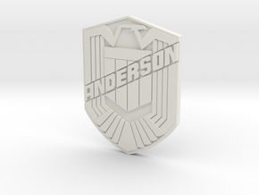 Anderson Badge with Your name in White Natural Versatile Plastic