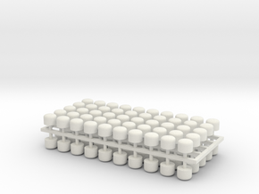 2mm Scale Vacuum Cylinders in White Strong & Flexible