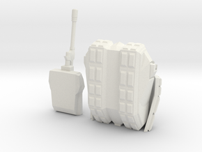 Tank 2 Printable in White Natural Versatile Plastic