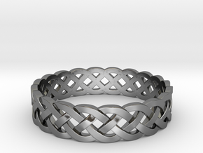Rohkea Bold Celtic Knot Size 10 in Fine Detail Polished Silver
