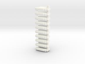 AB Rollen 10fach in White Processed Versatile Plastic