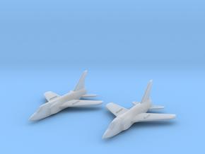 1/285 Grumman F-11 Tiger (x2) in Smooth Fine Detail Plastic