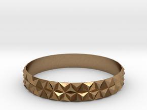 Bangle Bracelet Tetrahedron in Natural Brass