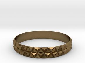 Bangle Bracelet Tetrahedron in Natural Bronze
