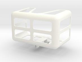Medium Measuring Tape Holder for Pegboards in White Processed Versatile Plastic