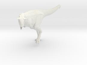 Carnotaurus 1/72 - Running in White Natural Versatile Plastic