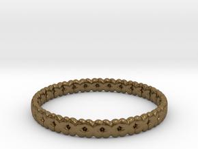 Clover Bracelet A in Natural Bronze