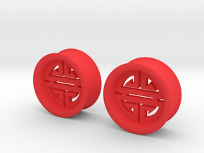 1 Inch Large Longevity Tunnels in Red Processed Versatile Plastic