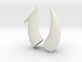 Small Virgo Horns in White Natural Versatile Plastic