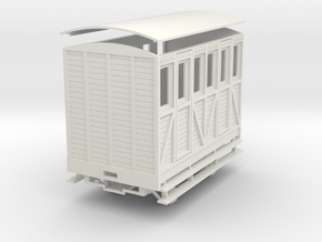 """On16.5 2 compartment """"woody"""" coach in White Natural Versatile Plastic"""