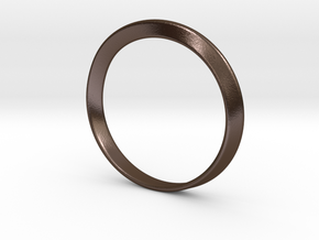Mobius Strip Bracelet (48mm Inner Diameter) in Polished Bronze Steel