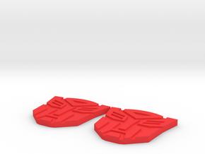 Masterpiece MP-10 Shoulder Symbols in Red Processed Versatile Plastic
