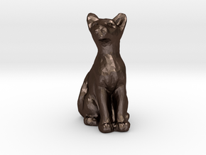 Cat in Matte Bronze Steel