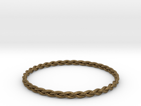 Braid bangle in Natural Bronze