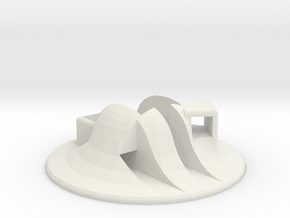 Turntable Holder in White Natural Versatile Plastic