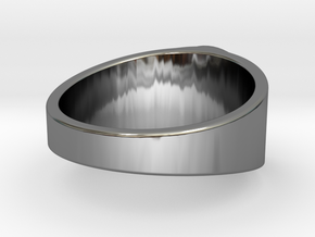 AA ring in Fine Detail Polished Silver