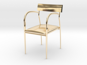 "Bernhardt Studio Chair 3.75"" tall in 14K Yellow Gold"