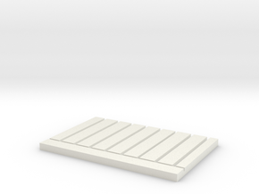 HO Scale Stud Wall Jig - 16 In Centers in White Natural Versatile Plastic