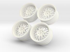 1/10 Touring Car Work Wheels VSXX VS-XX in White Processed Versatile Plastic