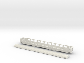 SBB Bpm 51 - TT scale in White Natural Versatile Plastic