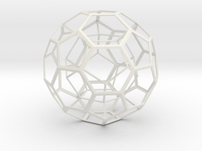 Dodecahedron in Truncated Icosahedron in White Natural Versatile Plastic
