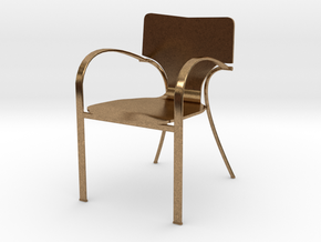"""Strada Chair 3.7"""" tall in Natural Brass"""