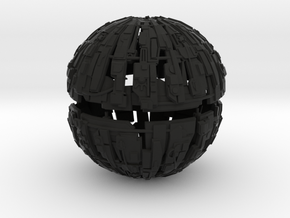 600m Cyborg Sphere 1/9000 Scale in Black Strong & Flexible