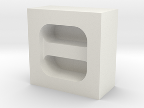Cord Holder Mold in White Natural Versatile Plastic