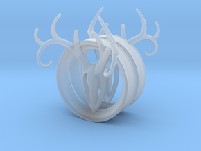 1 & 15/16 inch Antler Tunnels in Smooth Fine Detail Plastic